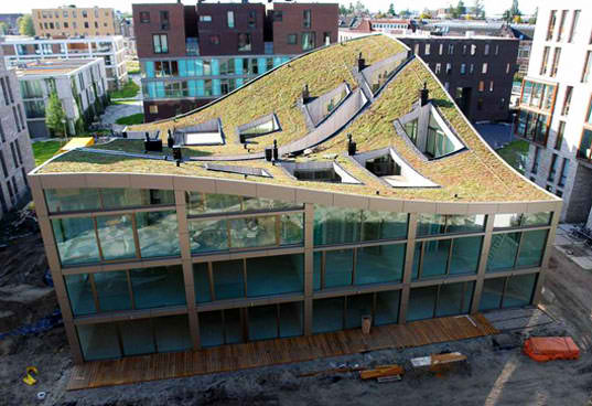 Green Roof Appartment Building In Amsterdam Eco Magnificent